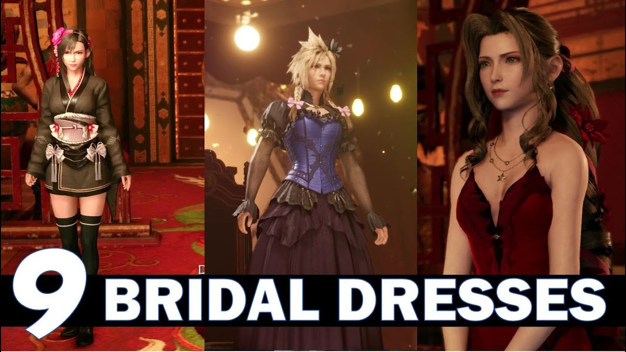FF20 Remake All Bridal Outfits & How to get them   Dressed to the Nines  Trophy   Final Fantasy 20