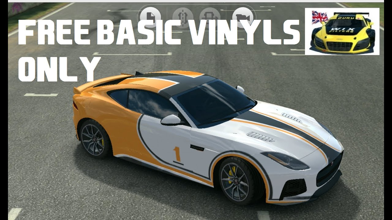 Real Plus Jaguar >> Real Racing 3 Customize Jaguar F-Type SVR Free basic vinyls - YouTube