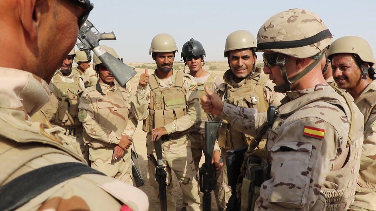ESPAÑA TRABAJA CONTRA EL DAESH EN IRAK #NOTODAESH - YouTube