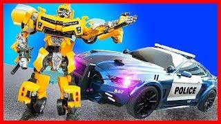 Игровой мультик про машинки. Спасаем город от роботов! Трансформеры Десептиконы снова в городе