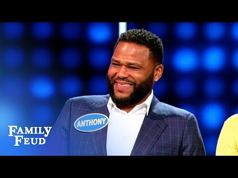 Anthony Anderson ain't kissin' this relative! | Celebrity Family Feud