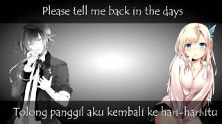 nightcore cliff edge sayonara i love you with lyrics indonesian switching vocal