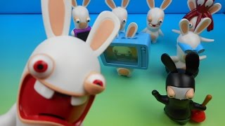 2015 rabbids set of 8 mcdonald s happy meal kids toys video review by fastfoodtoyreviews