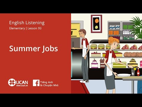 Learn English Listening | Elementary - Lesson 93. Summer Jobs