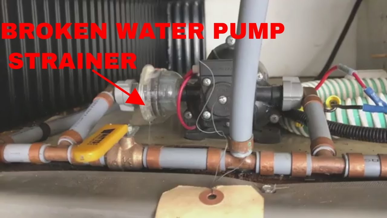 Shurflo Water Pump >> RV Shurflo water pump filter/strainer Replacement - YouTube