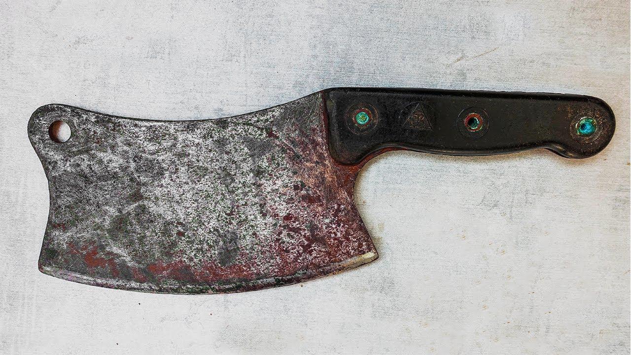 Restoration Old Rusty Bone Cleaver