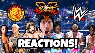 🔴 NEW DAY vs THE ELITE at E3 2018 - Street Fighter V REACTION