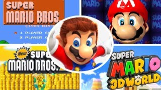 Evolution of Title Screens in Mario Games (1985-2017)