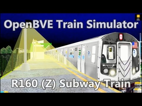 OpenBVE ►Z Train to Broadway Junction!◀ (R160)