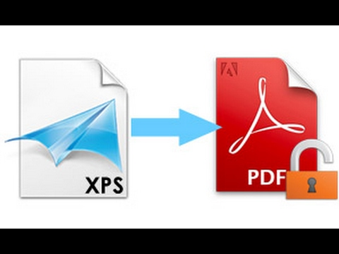 To file pdf convert xps to how
