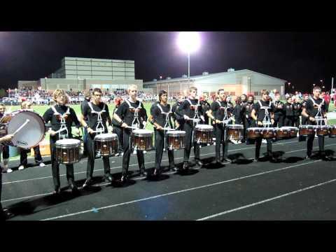 High School Drum Line Performance on Homecoming Night