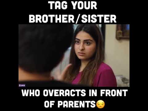 Brother VS Sister | Who Overacts In Front Of Parents