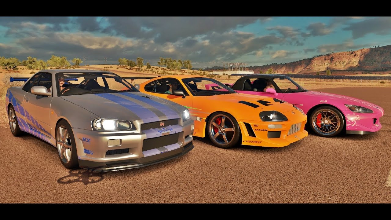 forza horizon 3 online supra vs skyline gt r r34 vs s2000 velozes furiosos youtube. Black Bedroom Furniture Sets. Home Design Ideas