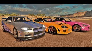 Forza Horizon 3 Online - Supra VS Skyline GT-R R34 VS S2000 - Velozes & Furiosos