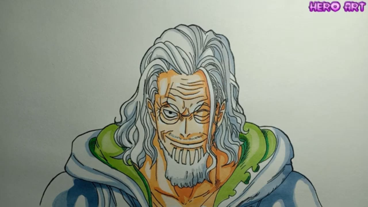 Cách Vẽ Chân Dung Vua Bóng Tối silver rayleigh-DRAWING ONE PIECE
