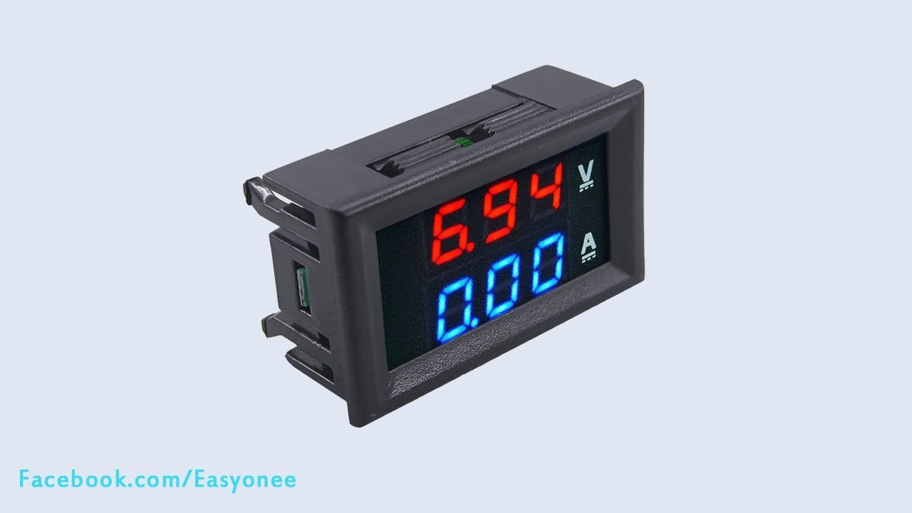 Small Digital Voltmeters Dc : Dc v a voltmeter ammeter blue red led digital volt