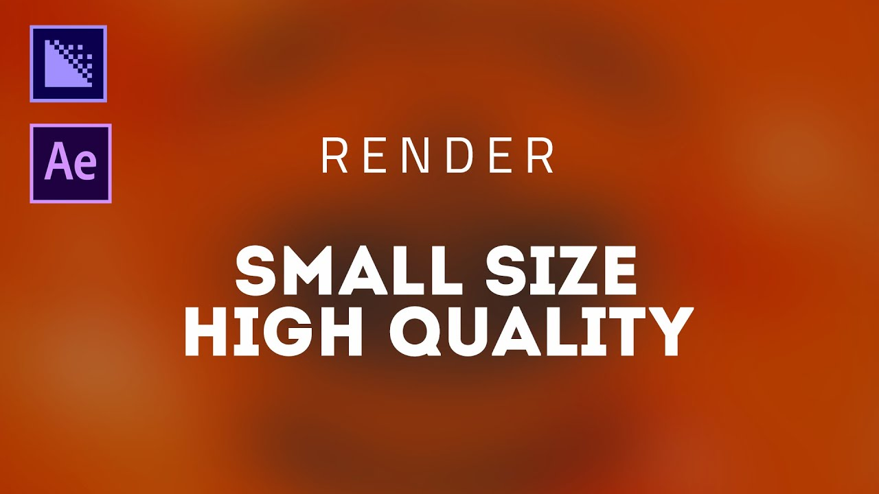 Small Size Render in After Effects – After Effects Tutorial – Media Encoder – Quick Friday – E02
