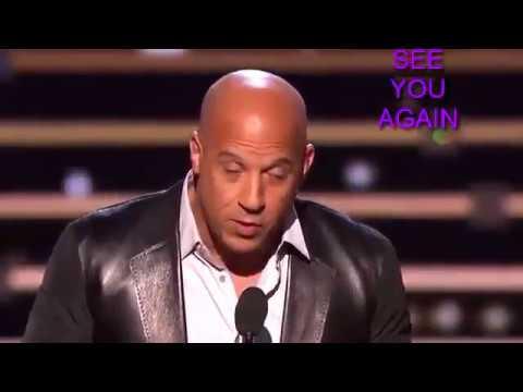 Vin Diesel Paying Tribute to His Best Friend Paul Walker