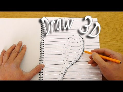 How to draw in 3d optical illusion