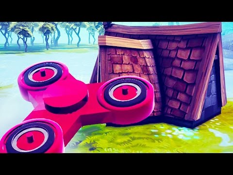 GIANT FIDGET SPINNER DESTROYS HOUSE! Missile Platform + More - Besiege Workshop Creations Gameplay