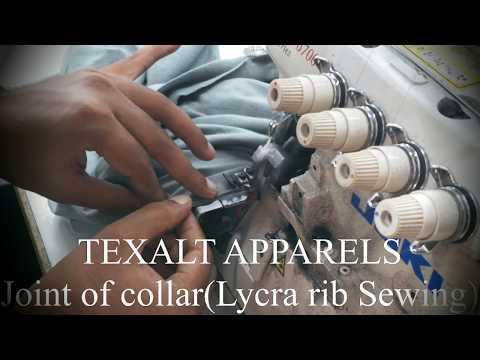 Texalt Apparels, Collar joint sewing.