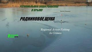 Подлёдная рыбалка. Крым - 10 января 2017 года.