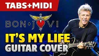 Bon Jovi It S My Life Acoustic Fingerstyle Guitar Cover And Midi