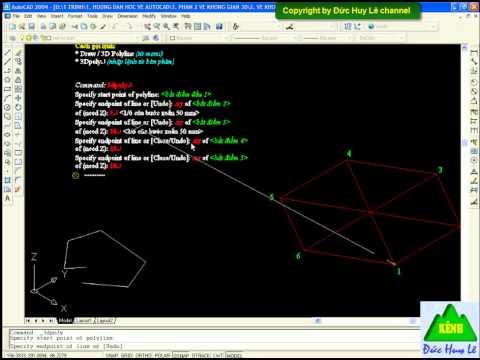 Vẽ đa tuyến trong CAD 3D - Lệnh 3D Polyline