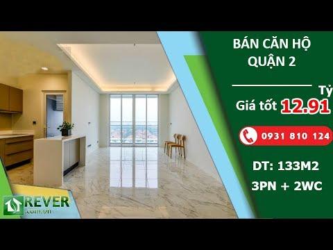 Bán căn hộ cao cấp Sarimi Sala Quận 2, diện tích 132m2 thiết kế 3 phòng ngủ | Rever