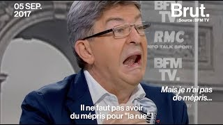Embrouille entre Jean-Luc Mélenchon et Jean-Jacques Bourdin sur BFM TV