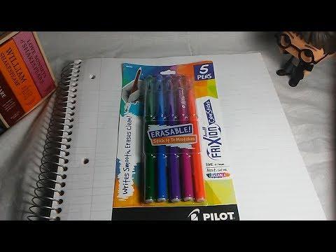 Erasable Gel Pens?! (Frixion Erasable Color Gel Pens Review)
