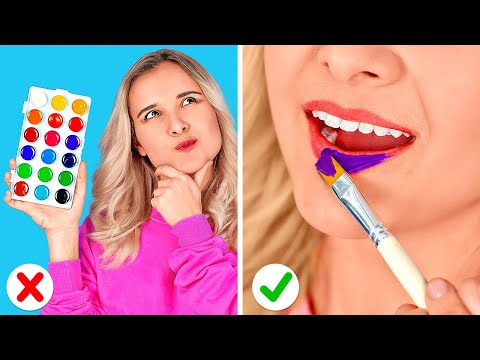 WEIRD WAYS TO SNEAK MAKE UP IN CLASS || Back to School Ideas For Beautiful Makeup by 123 GO! SCHOOL