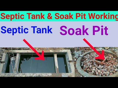 Septic Tank Working | Soak Pit for Septic Tank | Septic Tank Working Principle | Soak Pit Lecture