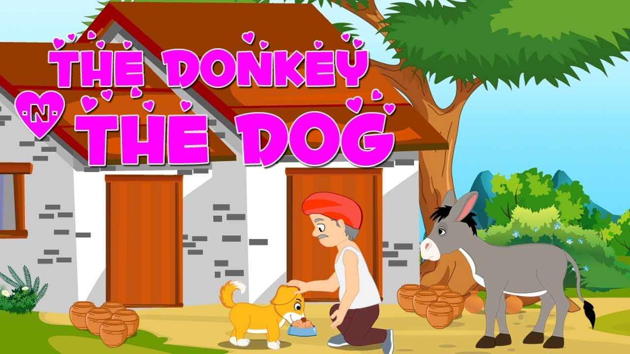 English Short Stories For Kids | The Donkey And The Dog | Funny Moral  Stories For Babies