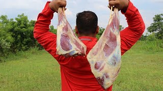 DRY MEAT ROAST WITH DRY FRUITS  EXCELLENT DINNER RECIPES #COOKING IN THE JUNGLE