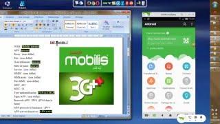 Configuration 3G Mobilis  sur Condor C8S