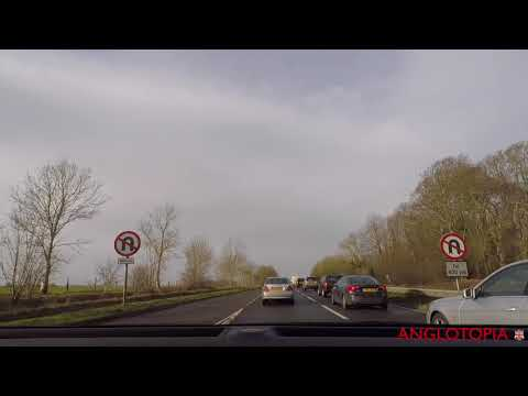 Slow TV: Drive from Heathrow Airport to Shaftesbury Dorset - Time-lapse Sped Up Version - No Audio
