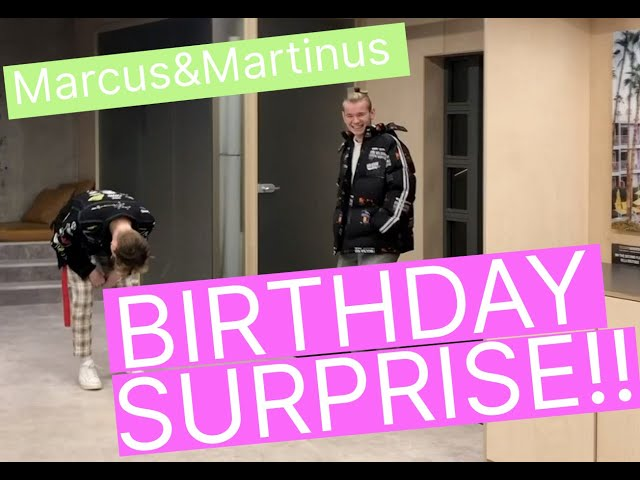 Marcus&Martinus – We got a surprise party for our 18th birthday!!