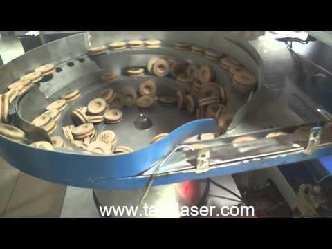 Full automatic caps co2 laser marking machine