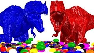 Большие Динозавры Учат Цвета С Цветными Шарами | Цвета Животные Учебные Видео Для Малышей