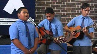 """Draw Me Nearer"" Student Performance White Ribbon Day [Belmore Boys High School]"
