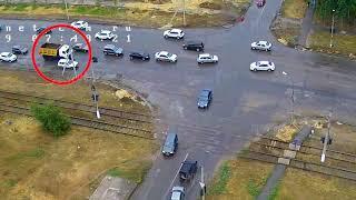 ДТП (авария г. Волжский) ул. Пушкина ул. Александрова 12-07-2019 07-48