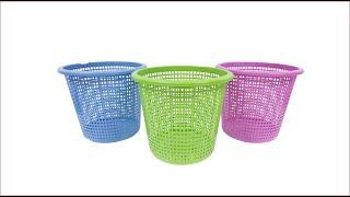 اصنعي سلتين انيقتين لحمامك انطلاقا من سلة واحدة/اليك الطريقة/recycle old bascket/DIY recycling