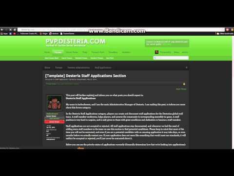 Desteria Forum How To - Staff Application