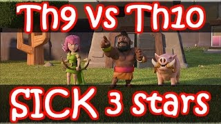Clash Of Clans | SICK Th9 vs Th10 OVERKILLS - CRAZY 3 Star Attacks!