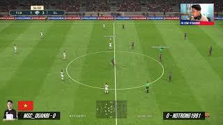 Giải Pes giao hữu Barca vs Olympique Lyonnais