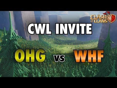 CWL Live! OneHive Genesis vs WHF | Clash of Clans