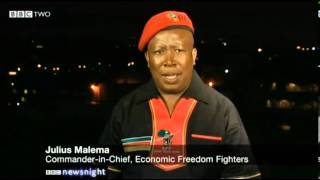 After Mandela Julius Sello Malema Commander in Chief of the Economic Freedom Fighters