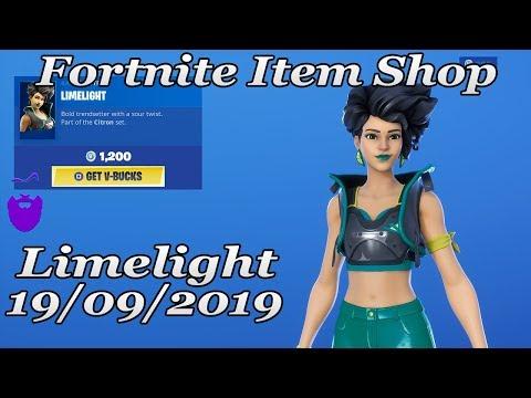 Fortnite Item Shop *NEW Limelight Skin | 19/09/2019 | Fortnite Battle Royale