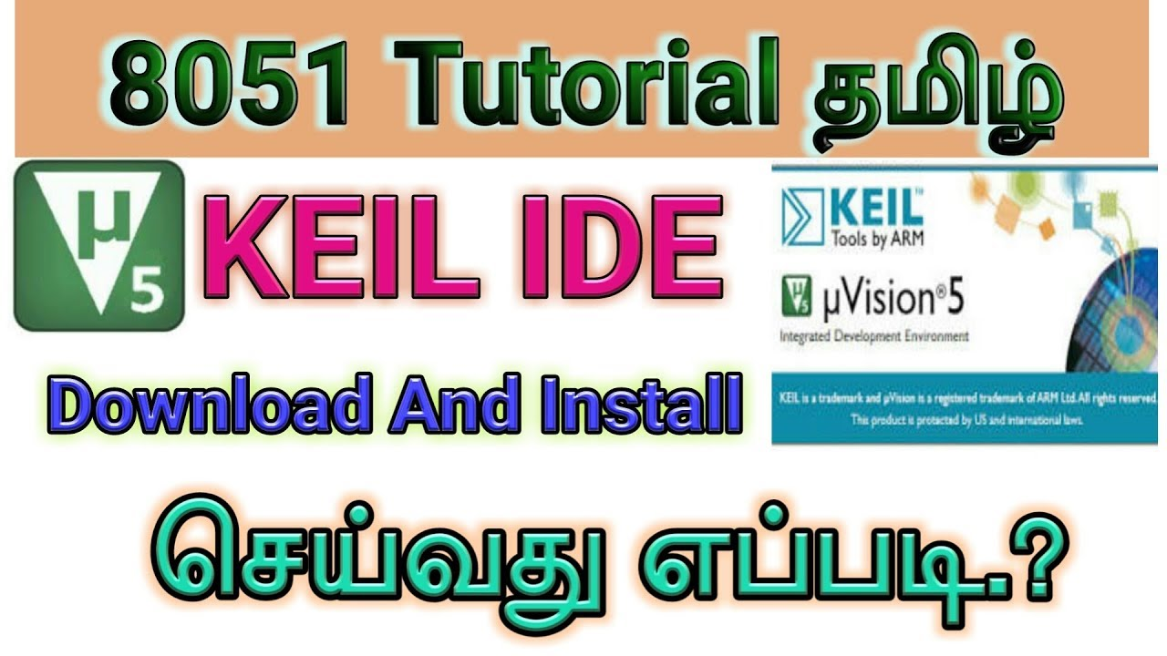 8051 microcontroller programming using keil uvision ide.